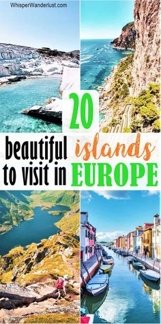 20 islands to visit in europe | most beautiful islands in europe | european islands to add to your bucket list | stunnings islands in europe | best islands to visit in europe #islandsineurope #europebucketlist #visiteurope Road Trip Europe, Europe Travel Guide, France Travel, Budget Travel, Travel Guides, Amazing Destinations, Travel Destinations, Places To Travel, Places To Visit