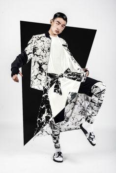 Topographic Motif Menswear : Harvey Nichols x ADYN Streetwear Fashion, Streetwear Brands, Streetwear Clothing, Sport Fashion, Mens Fashion, Street Fashion, Fashion Hair, Fast Fashion, Fashion Details