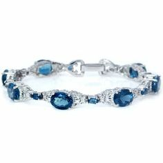 25.13ct. Natural London Blue Topaz White Gold Plated 925 Silver Bracelet Silvershake,http://www.amazon.com/dp/B00GMES1YA/ref=cm_sw_r_pi_dp_3wBntb180YGD8175