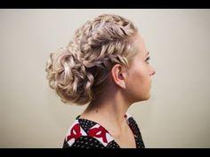 """Прическа из косичек """"Вечерняя"""". Evening hairstyle of braids - YouTube"""