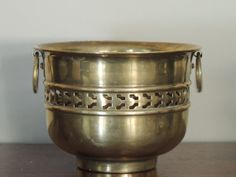 Vintage Brass Container with Handles by LeBrunDesignsInc on Etsy, $5.00