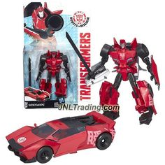 Hasbro Year 2014 Transformers Robots in Disguise Animation Deluxe Class 5 Inch Tall Robot Figure - SIDESWIPE with Sword (Vehicle Mode: Sports Car)