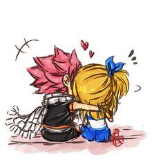 Natsu and Lucy ~ Chibi style