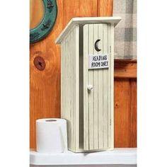 outhouse toilet paper storage