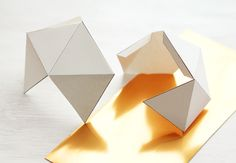 geometric christmas ornaments - Google Search
