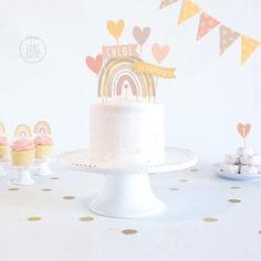 Rainbow Birthday Decorations, Rainbow First Birthday, Birthday Centerpieces, Birthday Cake Girls, First Birthday Cakes, Birthday Cake Toppers, Rainbow Smash Cakes, Rainbow Cupcakes, Cake Smash