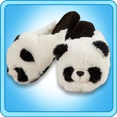 Pillow Pets Authentic Comfy Panda Slippers Medium Toy Gift  check size chart * Read more reviews of the product by visiting the link on the image.