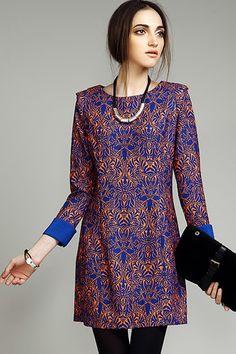 Vintage 3/4 Sleeve Dress - OASAP.com