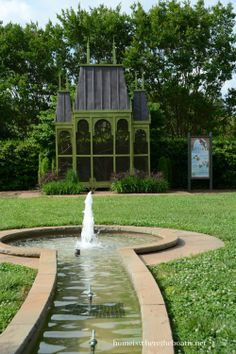 aviary and water feature at Daniel stowe botanical garden~