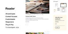 Reader, Top Quality Blogging Tumblr Theme #tumblr #theme #layout #portfolio #inspire #gallery #grid #one #column
