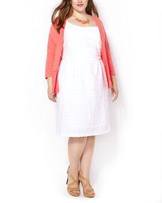 3/4 Sleeve Cotton Open Cardigan #penningtons #plussizefashion