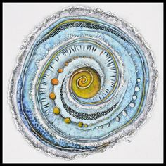How to sew a song: A project by the Kingston Symphony Orchestra «Lorraine Roy Art . How to sew a song: A project by the Kingston Symphony Orchestra «Lorraine Roy Art Textiles Kingston, Art Journal Inspiration, Art Inspo, Fiber Art Quilts, Spiral Art, Cocoon, Circle Art, Textiles, Mandala Art