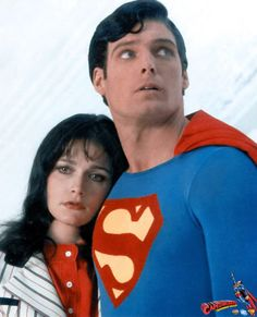 Christopher Reeve and Margot Kidder as Clark & Lois from Superman II (1980)