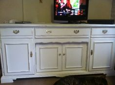 Stunning Shabby Chic Sideboard painted in Annie Sloan Old White | eBay