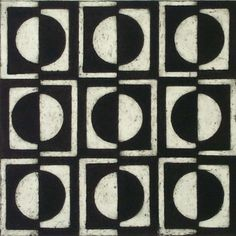 'Switching' by British printmaker Anna Warsop. Collograph, 25 x 25 cm. via the artist's site Collograph, - is it time to embrace black and white opticals? Textures Patterns, Print Patterns, Value In Art, Collagraph, Print Artist, Repeating Patterns, Textiles, Form, Art Lessons