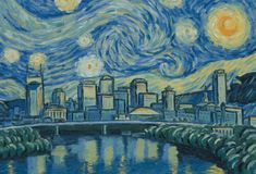 Hanging on my wall right now! Nashville starry starry night.