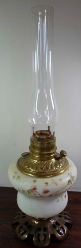 RARE Antique Victorian Art Nouveau C 1895 CF Monroe Wavecrest Oil Lamp Light | eBay
