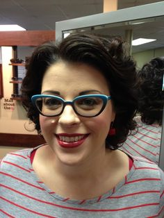 29bda27d15 Temple is wearing the LA Eyeworks Magpie. She has a very strong  prescription