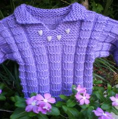 Free Knitting Pattern - Toddler & Children's Clothes: Little Sweetheart Sweater