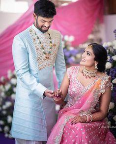 Indian Engagement Outfit, Engagement Dress For Groom, Wedding Outfits For Groom, Groom Wedding Dress, Engagement Dresses, Bridal Outfits, Engagement Saree, Bride Groom, Sherwani For Men Wedding
