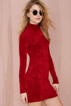 Nasty Gal After Party Vintage Crush Hard Knit Dress