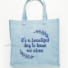 It's a beautiful day to leave me alone SVG cut file, quote by pixelphoenixdesigns on Etsy
