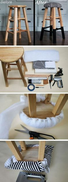 Ikea stool and white mongolian lamb cushion cover Remove seat from - wohnzimmer ideen tapezieren