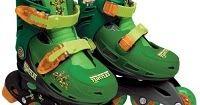 Patins Tartarugas Ninja - Tamanho 33 ao 36 - DTC http://produtoskids.blogspot.com.br/2016/07/comprar-patins-tartarugas-ninja-tamanho.html
