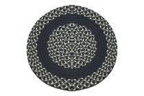 Navy, Williamsburg Blue & Cream - Navy Band Round Braided Rug This high-quality braided rug is made by American workers at our family-owned business in the North Carolina Mountains. It is made from Naturalized Olefin, which is a synthetic, polypropylene yarn that is extremely durable, yet soft enough for use indoors. It is color fast and washable. Visit www.stroudbraided... for more details