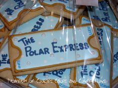 """POLAR EXPRESS COOKIES....Great idea for """"POLAR EXPRESS"""" movie night! With Hot Chocolate of course! ;)"""