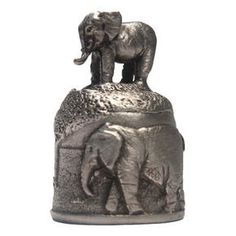 Elephant Pewter Thimble