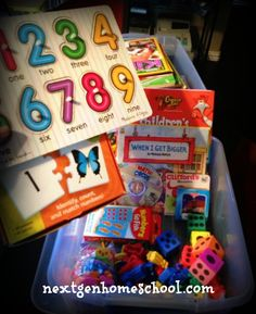 number themed quiet time bin & other ideas