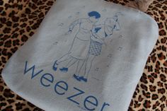 WEEZER  Upcycled Rock Band Tshirt Tote Bag OOAK by evilrose, $30.00