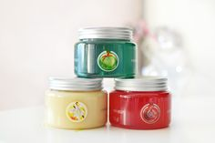 The Body Shop Bath Jelly: Glazed Apple, Frosted Cranberry and Vanilla Brulee