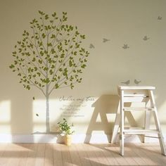 Tree wall sticker for nursery- where was this when I was hunting high and low 2 years ago!?!?