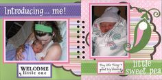 Newborn Scrapbook Ideas