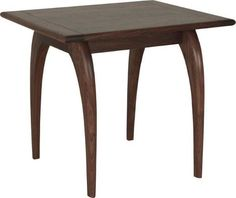 Amish Chaili End Table A cool mid century modern accent table, the Chaili is built with the solid wood and stain of your choice. Perfect next to the sofa or loveseat. #accenttables #endtables