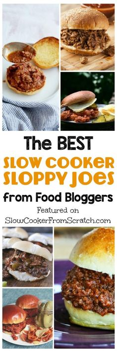 Everyone loves Sloppy Joes, dont they, and here are The BEST Slow Cooker Sloppy Joes from Food Bloggers. All these Slow Cooker Sloppy Joes recipes use from-scratch ingredients, and there are Sloppy Joe's for everyone, even vegetarian ones made with lentils! And Sloppy Joes are perfect for Football Season, which will be here soon! [found on  SlowCookerFromScr...]