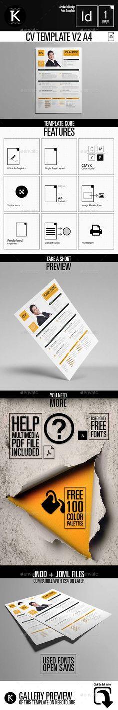 CV by wavebreak on @creativemarket L \u2022 Resume, Invoice, Proposal