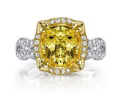Katharine James Bella's Love yellow sapphire ring