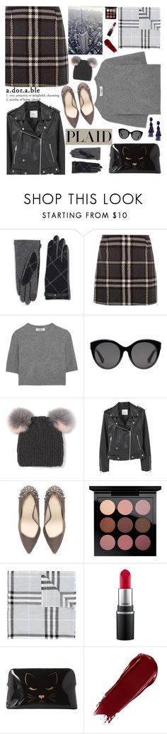 """Plaid it!"" by euafyl ❤ liked on Polyvore featuring Lauren Ralph Lauren, Valentino, Gucci, Eugenia Kim, MANGO, Zara, MAC Cosmetics, Burberry, Ted Baker and Oscar de la Renta"