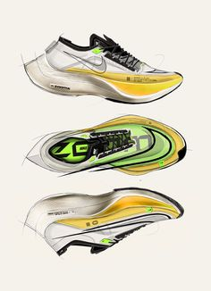 Running Gear, Running Shoes, Sneakers Sketch, Shoe Sketches, Industrial Design Sketch, Presentation Layout, Beautiful Shoes, Designer Shoes, Nike Free