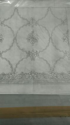 This Pin was discovered by Tül Border Embroidery Designs, Embroidery Motifs, Embroidery Fabric, Floral Embroidery, Beaded Embroidery, Pencil Design, Gold Work, Embroidery Techniques, Fabric Painting