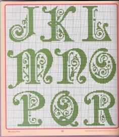 Alfabeto verde 2