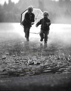 through the rain...