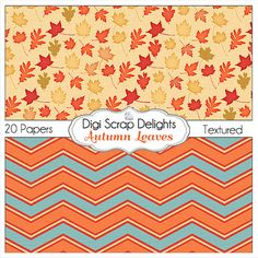 50% OFF TODAY Autumn Leaves Digital Papers by DigiScrapDelights  #Scrapbooking #Autumn #Fall #Scrapbookingkits #DigiScrapDelights #Thanksgiving