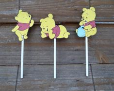 Winnie the Pooh Cupcake Wrappers-Pooh by YellowFlowerDesigns