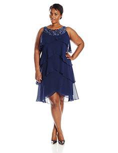 S.L. Fashions Women's Plus-Size Jewel Neck Tiered Dress, Navy, 16W S.L. Fashions http://www.amazon.com/dp/B00T7N9QQ0/ref=cm_sw_r_pi_dp_IkMxvb1MK42MX