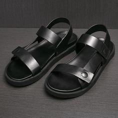 Прохладное-лето-мужчины-носок-Метросексуал-сандалии-черные-кожаные-сандалии-дышащий-нижней-толстая-Рим-мужские-сандалии.jpg (800×800)
