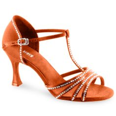 Lady's rhinestoned latin shoes - Bloch Guilia Latin Dance Shoes S0838SC. Visit http://ballroomguide.com/comp/attire/shoes.html for more info about ballroom shoes